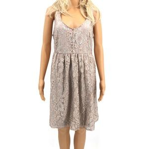 Torrid Cream Lace Overlay Dress Size 12 EUC